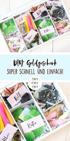 DIY kreatives Geldgeschenk in der Holzbox (SOS-Geschenk)
