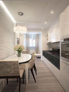on Behance Luxury Kitchen Design, Kitchen Room Design, Contemporary Kitchen Design, Home Decor Kitchen, Interior Design Kitchen, Kitchen Furniture, Home Kitchens, Black Kitchen Countertops, One Wall Kitchen