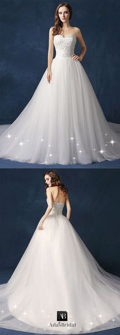 Fabulous Tulle & Lace Sweetheart Neckline A-line Wedding Dress With Beadings