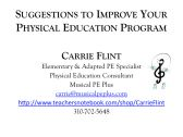 Suggestions to Improve Your PE Program product from CarrieFlintMusicalPE on TeachersNotebook.com