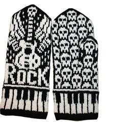 Let's Rock mittens by Jorid Linvik -  This pattern is available for download for $6.00. Let's Rock! Mittens for rockers. Love these mitts!