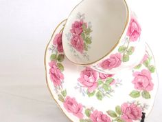 Teacup Saucer QUEEN ANN Bone China England Lady by twocheekychicks, $18.00