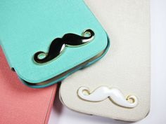 Cute Mustache White Black Samsung Galaxy S 3 S 4 Note by Shopcase, $18.99