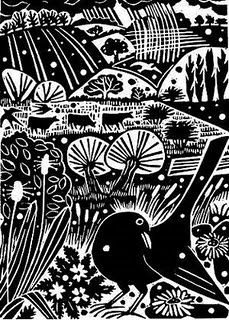 More John Clare inspired artwork. Carry Akroyd - John Clare Series Linocut illustration for The Wood is Sweet. Linocut Prints, Art Prints, Block Prints, Engraving Art, Engraving Ideas, Linoprint, Tampons, Woodblock Print, Bird Art