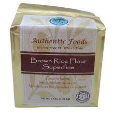 Brown Rice Flour, Superfine - 3 lb, (gluten free, baking, celiac, rice flour, authentic foods, flour, flours)
