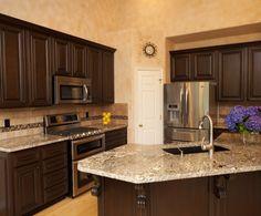 Traditional Dark Wood / Black / Espresso Kitchen Cabinets ...