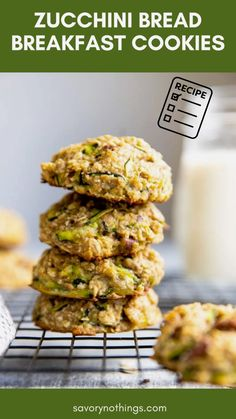 Healthy Zucchini, Zucchini Bread, Zucchini Breakfast, Zucchini Squash, Healthy Peanut Butter, Healthy Baking, Healthy Breakfast On The Go, Breakfast Recipes, Healthy Snack Options
