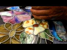 Dichroic Stained Glass decorative soldering 001a