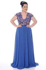 Resultado de imagem para vestidos de festa azul plus size curto