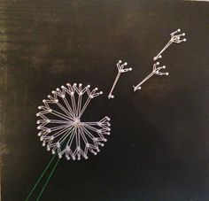 Make a wish and get this awesome dandelion string art. Perfect for any where in the house. And, best of all, its made just for you! Simply send in your color specifications and it will be sent to you on a 11 x 14 x .5 inch board.