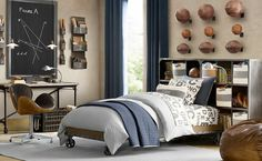 Sporty Bedrooms for Teen Boys, modern football room, modern