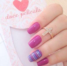 Doce película Nail Ring, Nail Arts, Nail Polish, Nails, Beauty, Rings, Enamels, Pink Nail, Nail Colors
