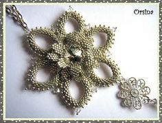 Jewelry-making manuals, tutorials collection at: Snowdrops - Orsina (Snowdrop pattern)