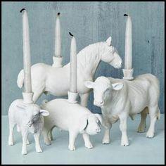 Barnyard Candle Holders