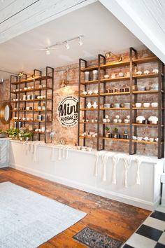 Home renovation inspiration curb appeal 19 Ideas Cafe Interior Design, Cafe Design, Retail Store Design, Small Store Design, Store Interiors, Candle Shop, Boutique Design, Restaurant Design, Home Renovation