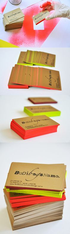 Edge Painted Identity...   These are so cool! If I ever make cards I am so doing this.