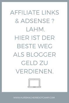 Geld verdienen mit Blog, Geld verdienen als Blogger, Blog monetarisieren.