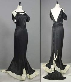 Chanel haute couture Cannes silk gown from circa 1935