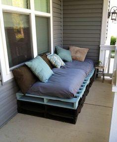 Diy Gartenmöbel Sofa Aus Paletten 2 Farben