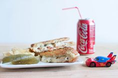 Chicken Pomodori Panini with Roasted Garlic Butter and Pesto Mayo | Oh So Delicioso