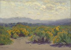 Charles Partridge Adams, Rabbit Brush, date not known — Colorado landscape painting