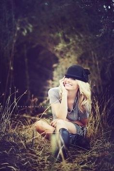 I like this. For once, sitting in tall grass doesn't look fake. Also, I like the idea of a hat...Hannah, can you bring your fedora?