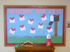 Sending our Love Display, classroom displays, class display, heart, letter, valentines day, love, Early Years (EYFS), KS1 & KS2 Primary Teaching Resources