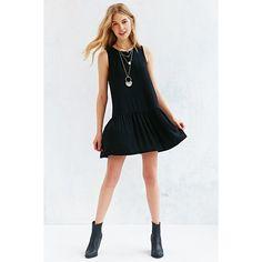 Kimchi Blue Drop-Waist Shadow Stripe Dress