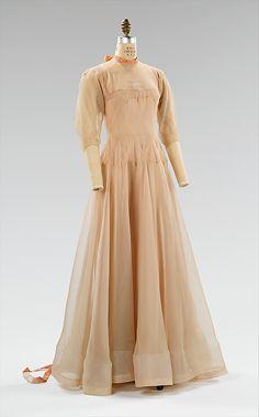 French Evening dress, c.1937.