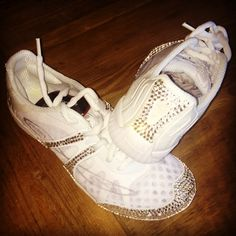 guaranteed to shred your bases' hands- Nfinity Vengeance Bling Nfinity Cheer Shoes, Cheerleading Shoes, Team Snacks, Cheer Mom, Bling, Hands, Sport, Craft, Sneakers