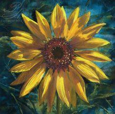 """Sunflower in Pastel"" - Original Fine Art for Sale - ©Pamela Hamilton"