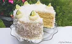 Coconut Lime Cake from Scratch Coconut Lime Cake, Almond Joy Cake, Coconut Cream, Italian Cream Cakes, Slice Of Lime, Summer Cakes, Coconut Recipes, Cupcake Cakes, Cupcakes