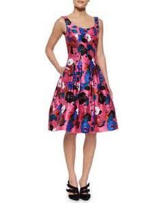 http://lyst.com/clothing/oscar-de-la-renta-floral-print-a-line-dress-hot-pink