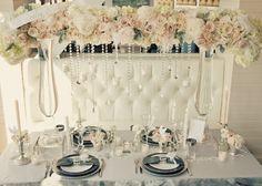 Seasonal Wedding Ideas: sparkly, metallic, Winter, glamorous , decor, pink, reception, wedding