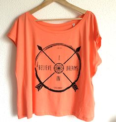 Camiseta logo I BELIEVE IN DREAMS, camisetas ecológicas, moda sostenible, tienda online ecológica