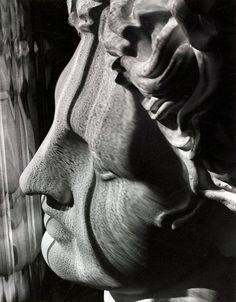 Carlotta M. Corpron:  Light Follows Form of Greek Head (c.1946)    from Amon Carter Museum