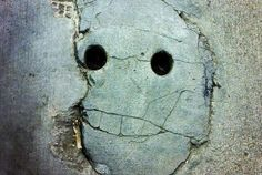 Concrete smiley face
