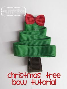 Amy Giggles Designs: Christmas Hair Bows Day 4