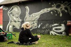 Emilia Illustration, Roskilde Festival Streetart
