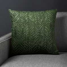 Shop Fiola Green Velvet Pillow with Down-Alternative Insert Double-needle embroidery gives an embossed look to this pillow's botanical patterning. Made of velvety green fabric, the pillow reverses to solid. Green Velvet Pillow, Green Pillows, Velvet Pillows, Velvet Duvet, Oregon House, Pillos, Pottery Barn Teen Bedding, Pink Bedrooms, Pillow Sale