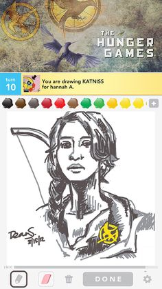 And that's how you draw Katniss...