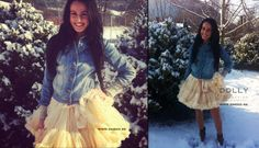 princess ivory..no worries that the snow is falling down. We are happy wearing DOLLY skirt :)