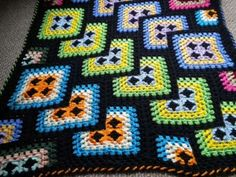 Love this twist on a granny square blanket!