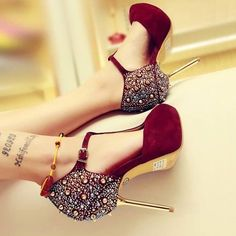 Shoes, Sandals, High Heels, Pumps and Stilettos for Women Collection 2014 High Heels For Prom, Red High Heels, Prom Shoes, High Heels Stilettos, Women's Shoes, Me Too Shoes, Stiletto Heels, Shoe Boots, Studded Heels