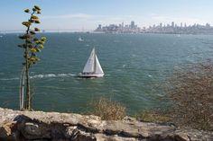 Nice skyline view of San Francisco, seen from Alcatraz Island