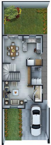 Planos de Casas y Plantas Arquitectónicas de Casas y Departamentos: Plantas Arquitectónicas modelo Diamante Golden en Privadas Las Lomas Residencial
