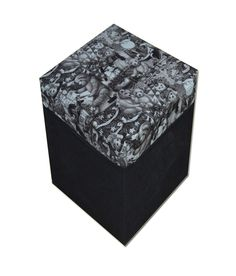 Beautiful Black Teddy Printed Storage Stool Seat Box!