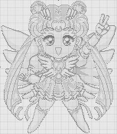 Sailor Moon - Chibi Sailor Uranus Key photo by Kawaii Cross Stitch, Geek Cross Stitch, Cross Stitch Kitchen, Beaded Cross Stitch, Cross Stitch Embroidery, Cross Stitch Patterns, Sailor Moon Crochet, Sailor Moon Crafts, Graph Design