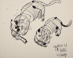 """Tigers"" by Creativity Explored artist Andrew Li"
