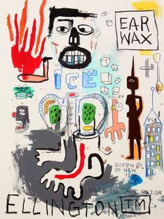 Jean-Michel Basquiat - Signed on back Jean Michel Basquiat, Jm Basquiat, Basquiat Artist, Basquiat Paintings, Neo Expressionism, Brooklyn, Life Paint, Art Brut, Arte Pop